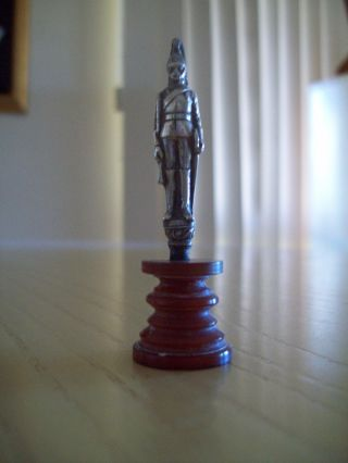 Sterling Silver Miniature Soldier On Stand photo