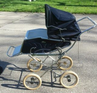 Vintage 1970s Perego Baby Carriage,  Stroller,  Bassinet Combo Arcore Italy Pram photo