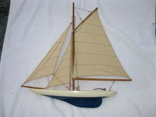 Model Display Sail Boat Great Piece For Beach House Maritime Display photo