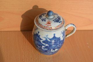 Lovely 18c.  Qianlong Or Yongzheng Imari Jar,  Lid Qing Antique China Porcelain photo
