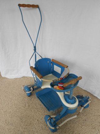 Vintage 1950 ' S Taylor Tot Baby Stroller Walker,  Wood Trim & Fenders All photo