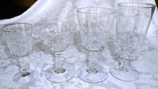 Vintage Thirty - One (31) Pc Cut Crystal Stemware Wine Champagne Cordial Ice Tea photo