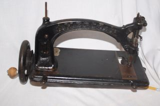 Antique No.  1 American Buttonhole & Overseaming Treadle Sewing Machine photo