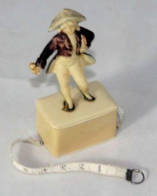 Antique Colonial Figure Tape Measure C1920 Figural Celluloid photo