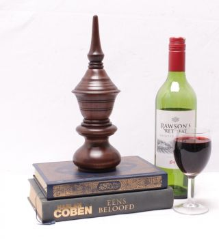 Classic Turned Wood Victorian Style 10 Inch Wooden Finial Spire photo