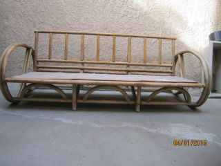 Cane Back Bentwood Beach ? Sofa Needs Cushions & Refinishing Local Pick Up Only photo