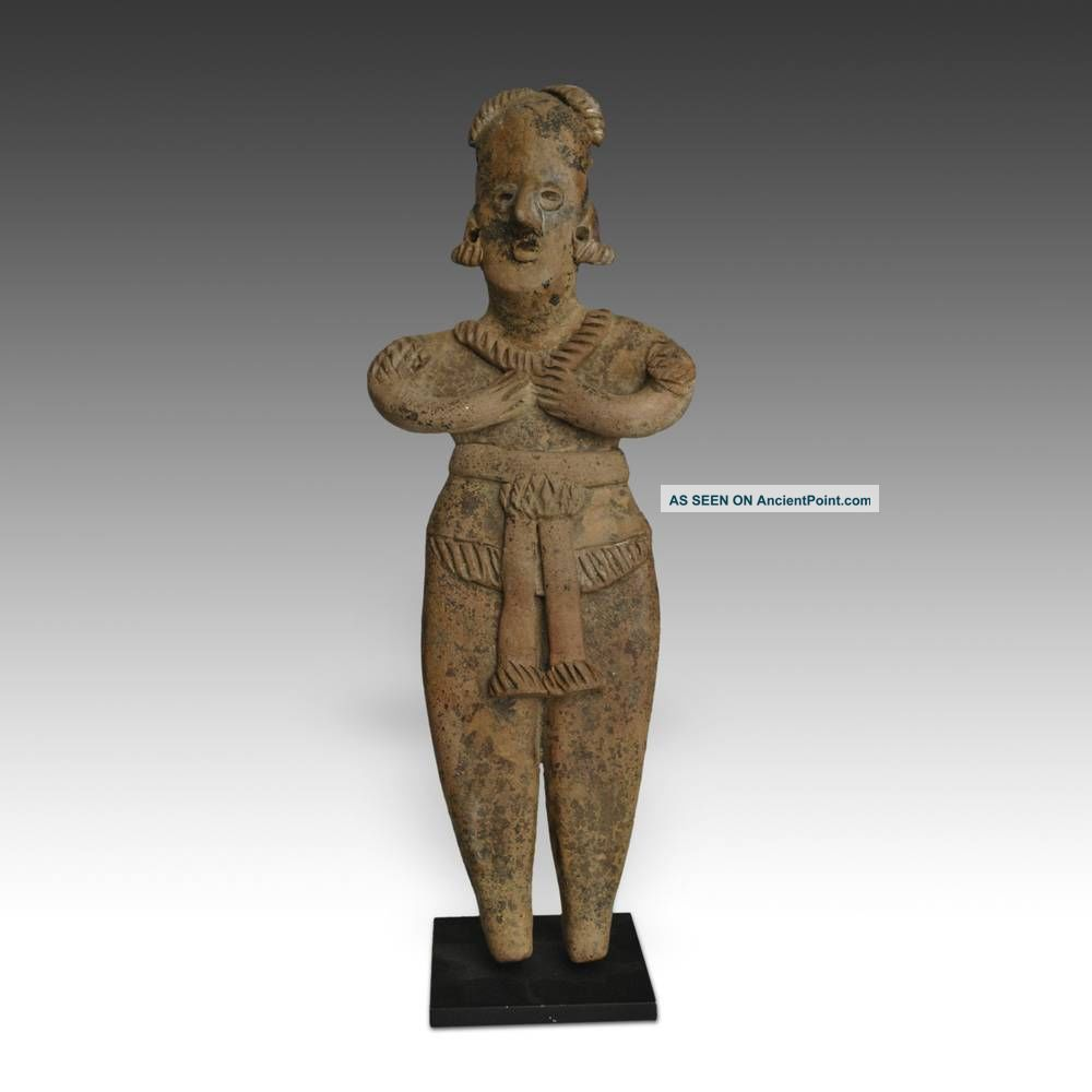 Pre - Columbian Terra Cotta Female Figure Colima West Mexico 100 Bc - 300 Ad Latin American photo