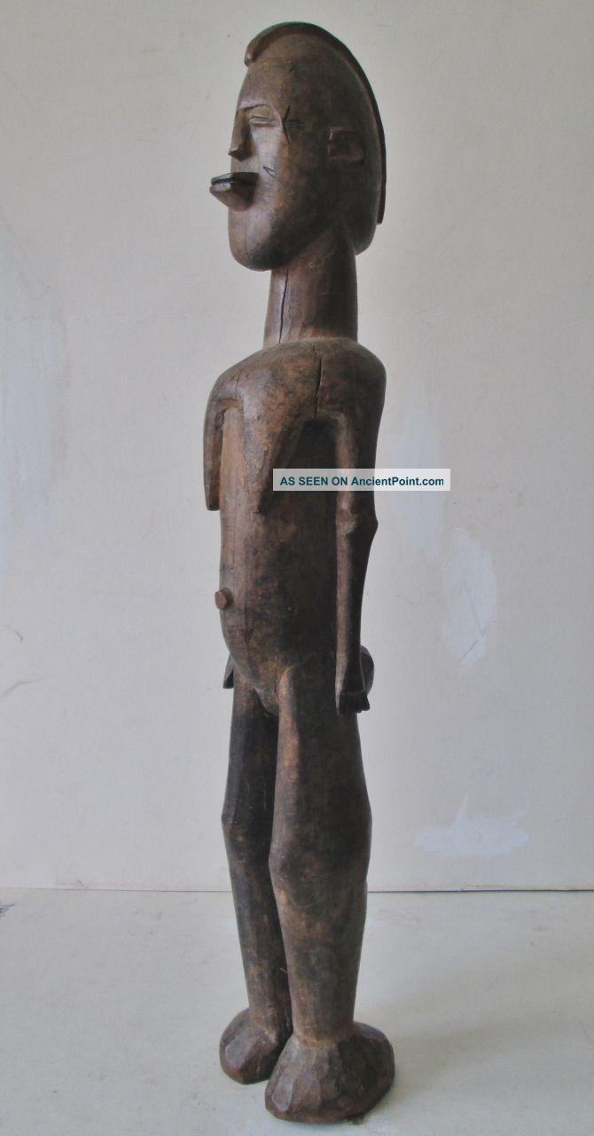 Vintage Tribal Figure African Carved Wood Statue 23 1/2