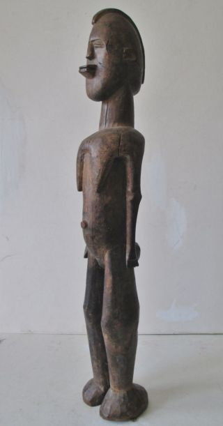 Vintage Tribal Figure African Carved Wood Statue 23 1/2