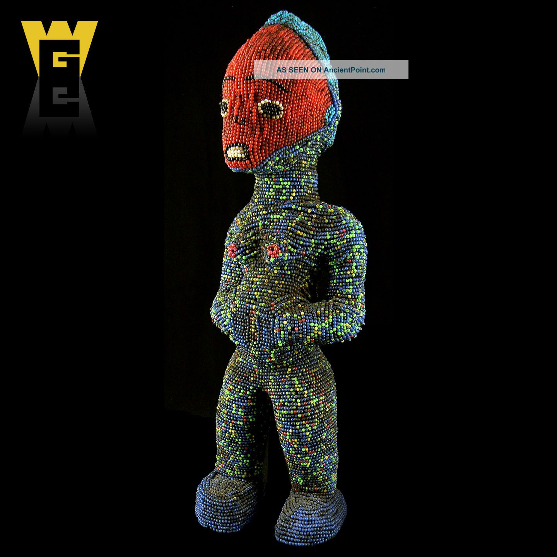 Wolfz - Gallery African Bamileke Grassland Beaded Figure Sculptures & Statues photo
