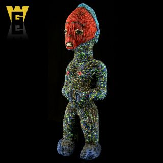 Wolfz - Gallery African Bamileke Grassland Beaded Figure photo