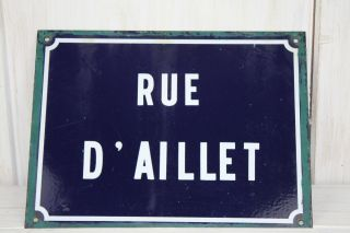 Antique Vintage French Enamel Street Sign photo