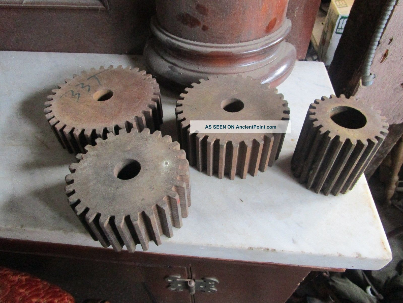 4 Vintage Industrial Age Phenolic Resin Gears Other photo
