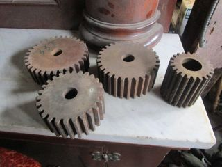 4 Vintage Industrial Age Phenolic Resin Gears photo