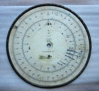 Antique Steampunk 1904 Cotton Mill Factory Industrial Ornate Instrument Gauge photo
