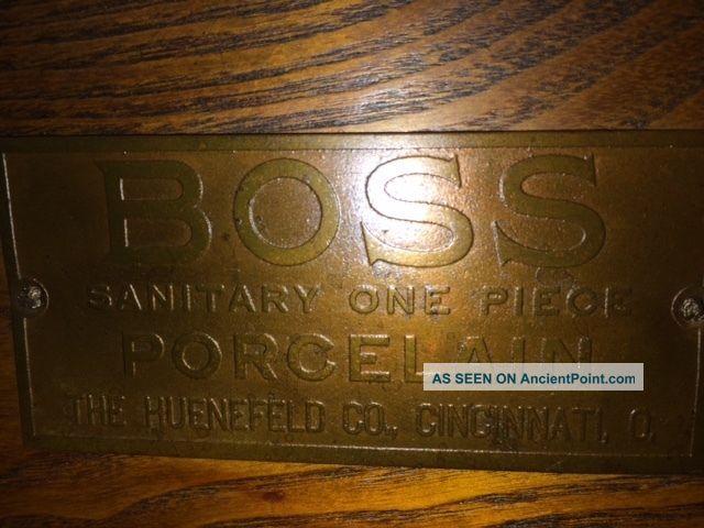 Antique Boss Porcelain Ice Box Ice Boxes photo