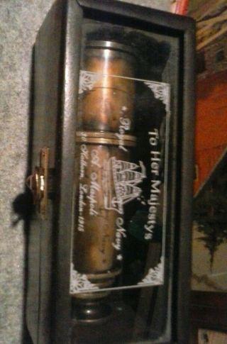 Brass Telescope Wooden Box photo