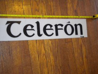 Irish Telephone Booth Sign Acrylic Or Plastic,  Gaelic :