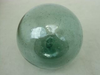 F12 Japanese Antique Glass Fishing Float Buoy Ball ø9 Cm 3.  5