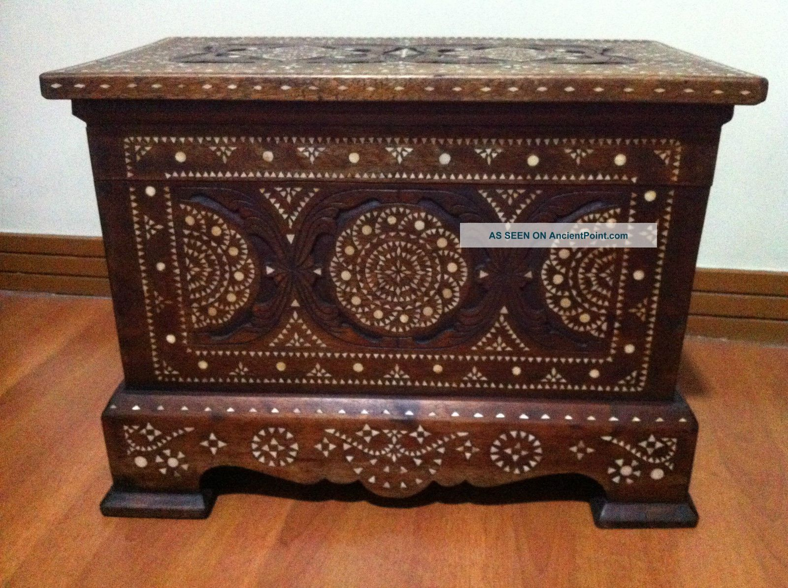 Philippine Maranao Mother Of Pearl Inlay Chest / Trunk Cabinet Unknown photo