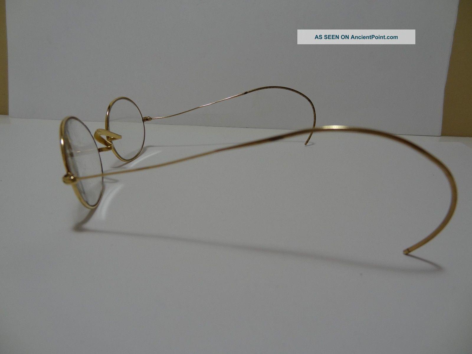 14k Solid Gold Eyeglass Frames : Antique Gold Framed Glasses for Pinterest