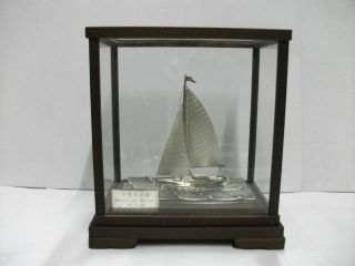 The Silver960 Sailboat Of The Most Wonderful Japan.  A Work Of Takehiko. photo