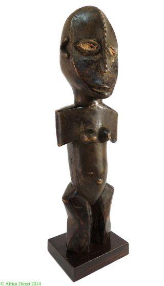Ngbaka Or Ngbandi Figure Nabo On Stand Dr Congo African photo