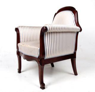 Antique Mahogany Armchair Swedish Parlour Chair Lounge Chair photo