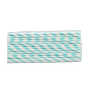 D 25 X Striped Paper Drinking Straws - Rainbow Mixed Party photo