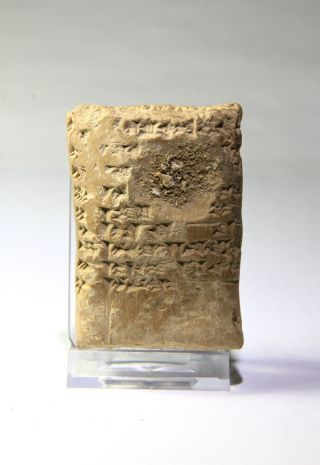 Ancient Near Eastern Cuneiform Translated Larger Clay Tablet 600 Bc photo