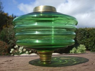 Green Glass Oil Lamp Font photo