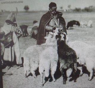 Wow Rare Antique Balkans Art Folk Hand Woven Woolen Shepherds Hooded Cloak L@@k photo