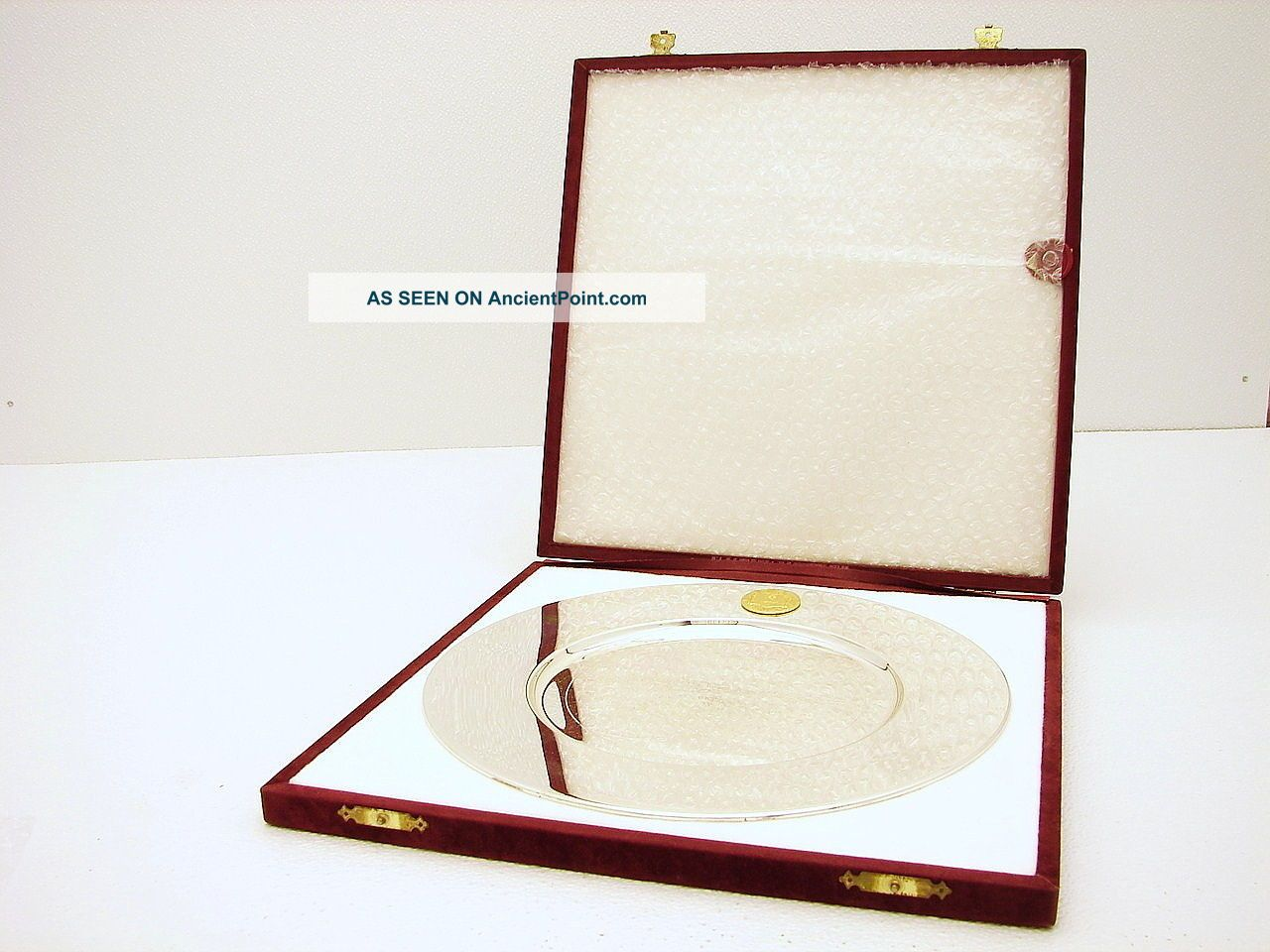 Silver German Bavaria Gebruder Deyhle Commemorative Engraved Tray Plate Plates & Chargers photo