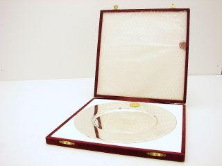 Silver German Bavaria Gebruder Deyhle Commemorative Engraved Tray Plate photo