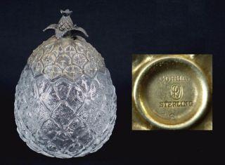 Sterling Silver - Gorham - Pineapple Honey Sugar Jam Jar Bowl - Vntg Rare photo