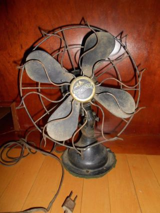 Antique? Vintage Electric Westinghouse Oscillating Fan 803008 Not photo