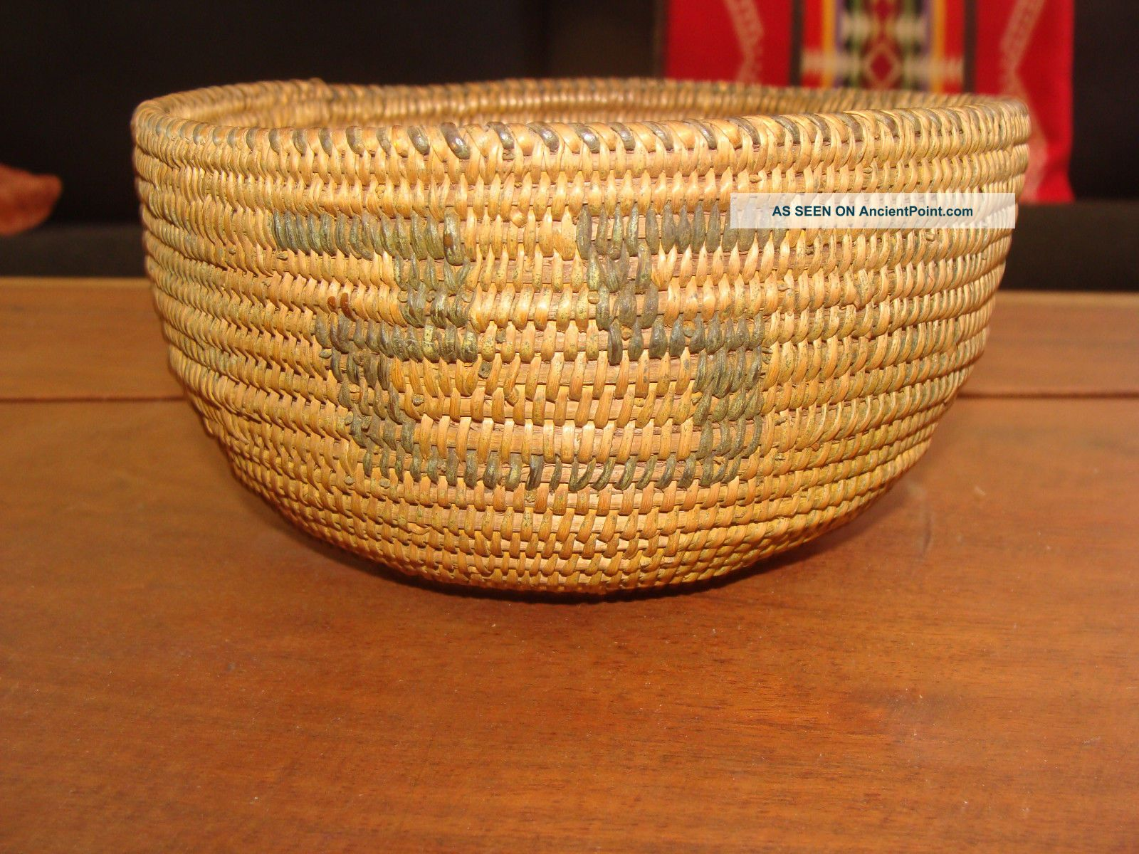 Old Native Use Maidu California Native American Indian Basket Vg Native American photo