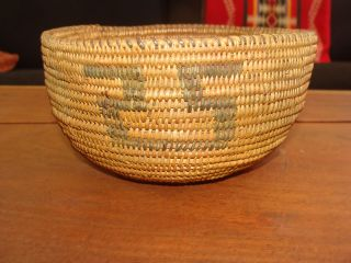 Old Native Use Maidu California Native American Indian Basket Vg photo