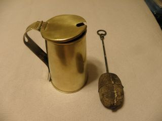 Vintage Brass Fire Starter Marked Wanamaker photo
