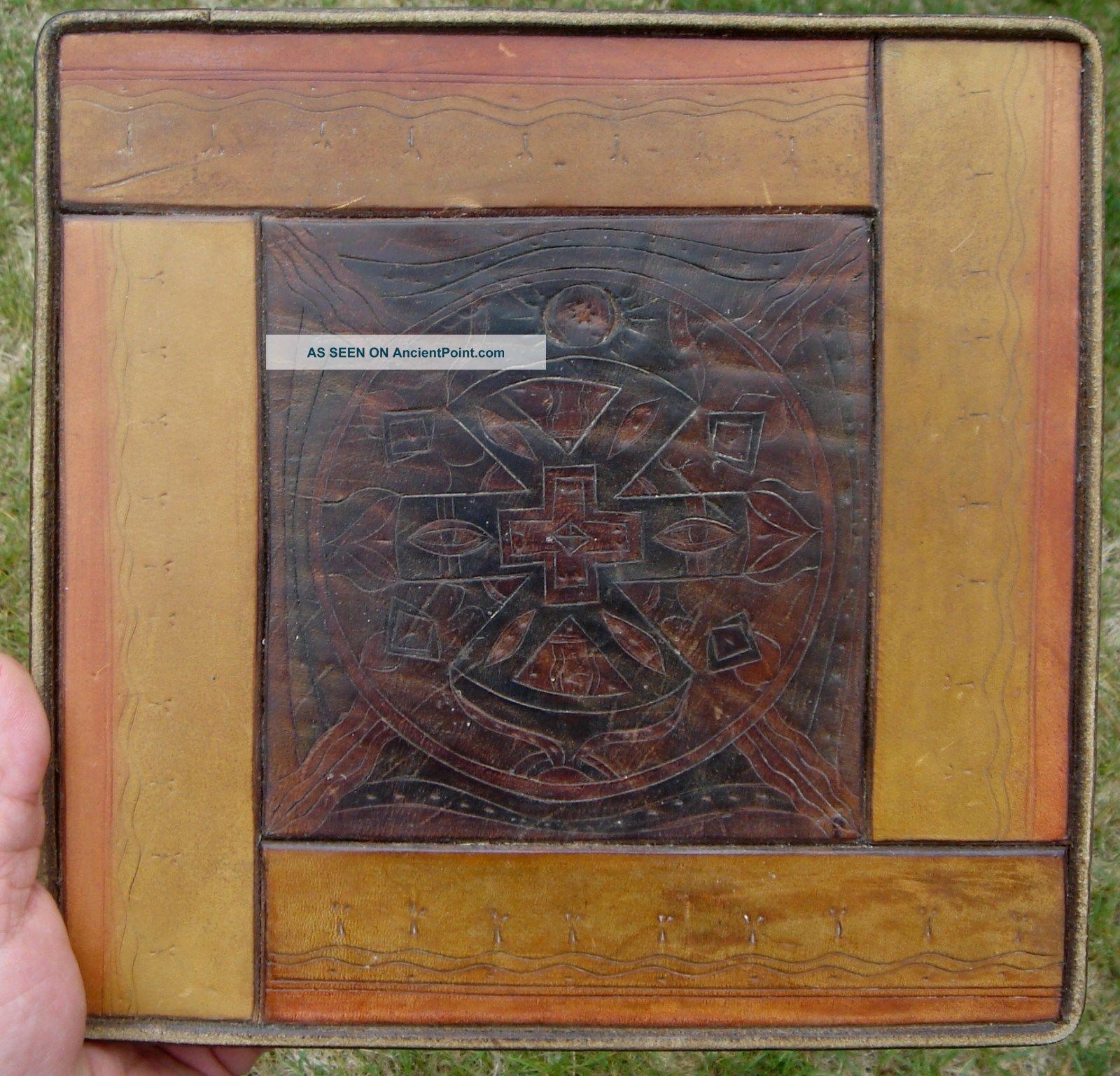 Leather Design: Rare Native American Item,  Sebastopol,  California,  1800s Native American photo