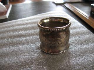 Birmingham Sterling Silver Napkin Ring photo