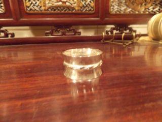 Sterling Napkin Ring Holder photo