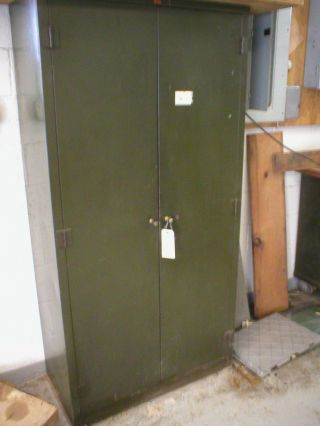 Security Steel Tool Cabinet Locker Tool Storage Vintage Industrial Factory Loft photo