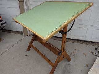 Hamilton Drafting Artist Drawing Painter Easel Table Designer Vintage Industrial photo