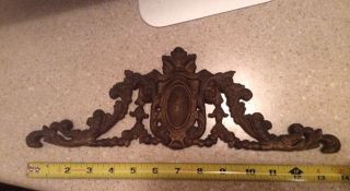 Vintage Antique Picture Frame Pediment Ejs Mfg Co Cast Iron photo