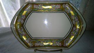 Antique Art Nouveau Porcelain Plate Tray Floral Gold 10