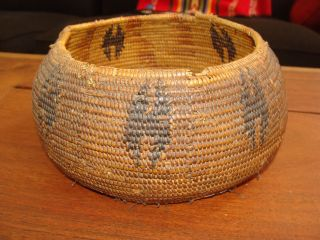Rare Large Globular Native Use Pomo California Native American Indian Basket photo