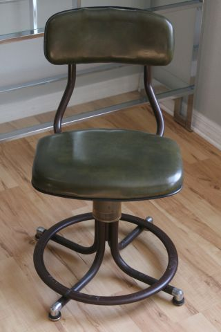 Vintage Industrial Western Electric Telephone Operators Chair Stool photo