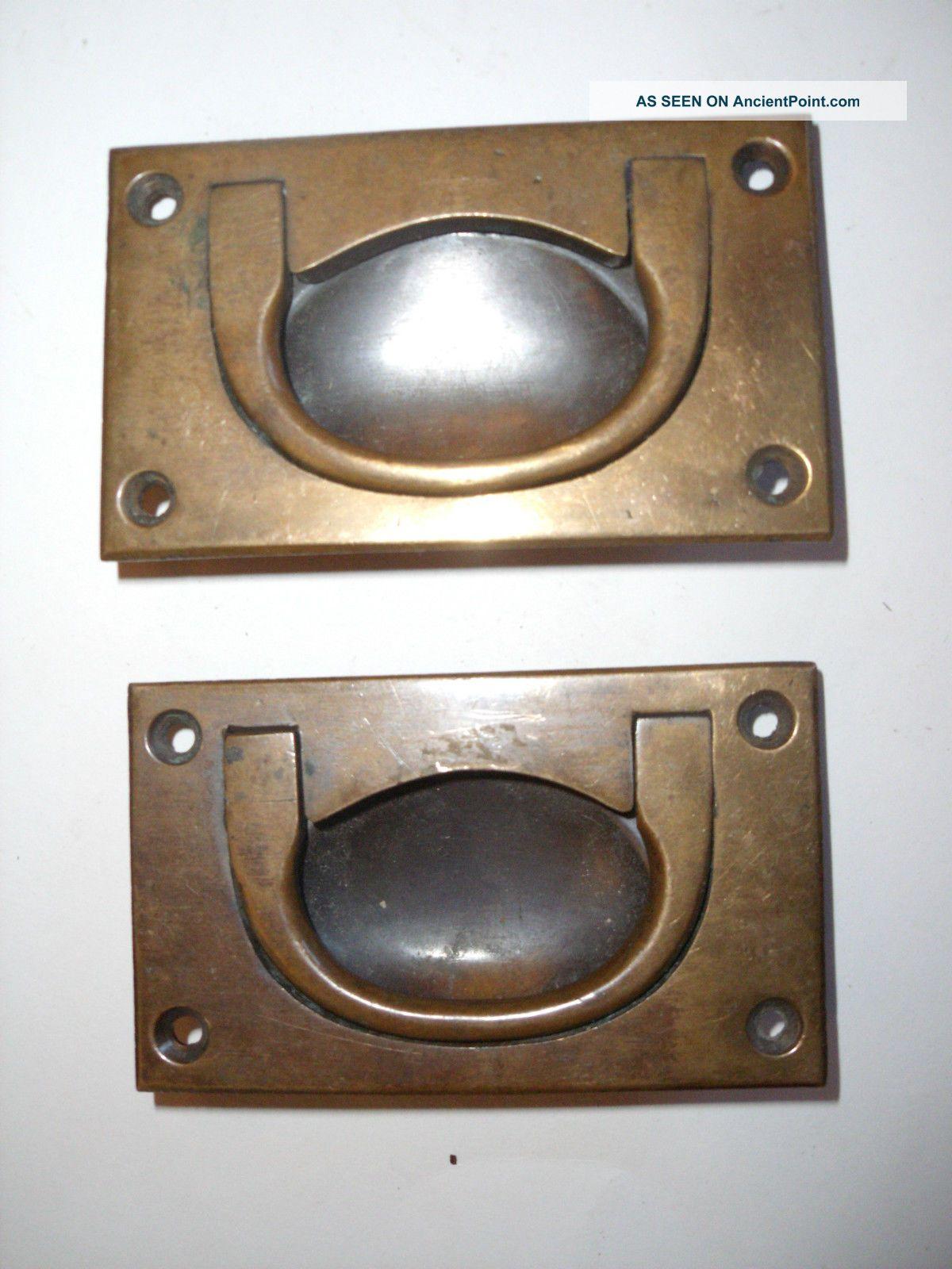 Antique Drawer Handles Recessed Brass Tool Chest Vintage Chest Dresser