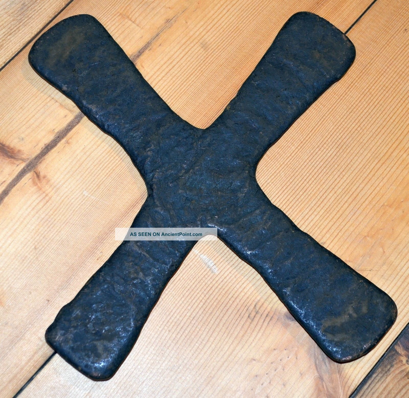 Antique Katanga Cross Currency X Shaped Cast Copper Ingot Congo,  Africa Sculptures & Statues photo